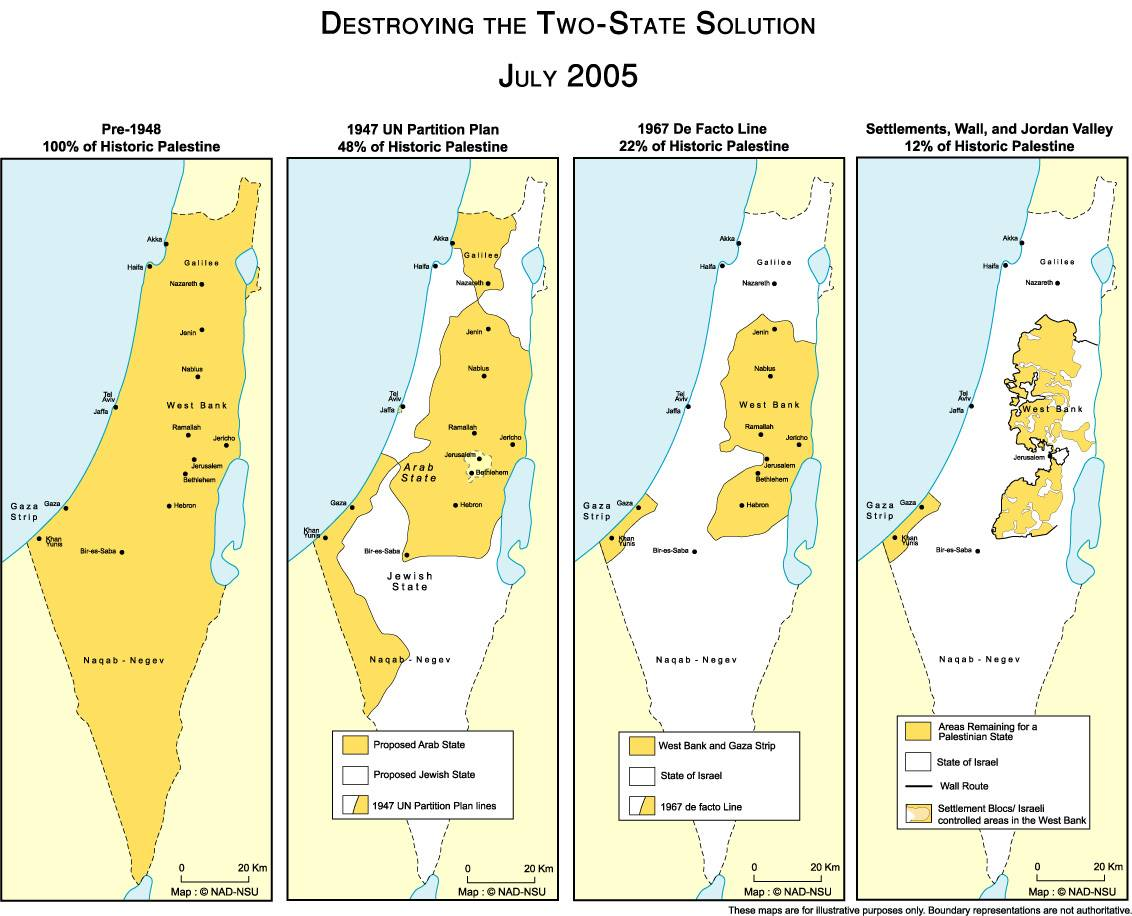 Map Of Israel And Palestine - Isreal map
