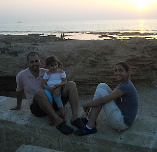 Walid Abu Rass and his daughters