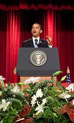 Obama in Cairo in 2009