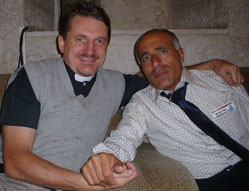 Morde Vanunu and me after his 'release' in 2004