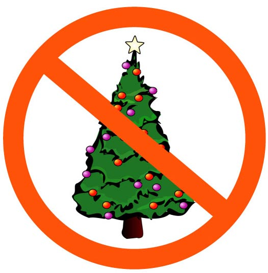 ban on Christmas tree