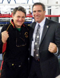 Miko Peled and Father Dave in September 2011